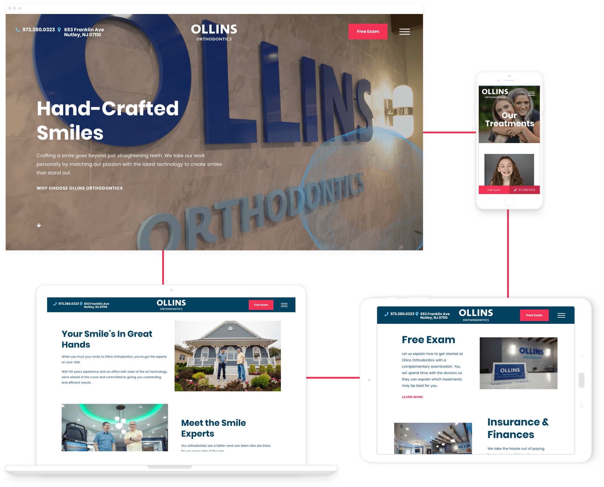 Ollins Orthodontics Homepage